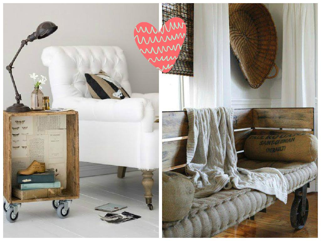 lateral e o sofá ambos de rodinhas criando um ambiente rústico #964235 1024x768